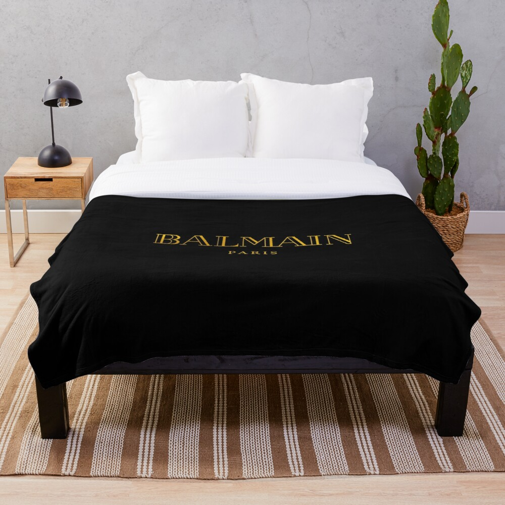 Balmain Paris Throw Blanket Soft Sherpa Blanket Bed Sheet Single Knee Blanket Office Nap Blanket