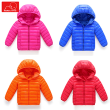 boys girls winter autumn coats cotton kids hooded jackets cute kids outerwear toddler overcoat parkas coat цена и фото