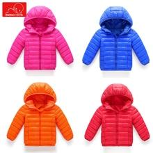 boys girls winter autumn coats cotton kids hooded jackets cute kids outerwear toddler overcoat parkas coat цены онлайн
