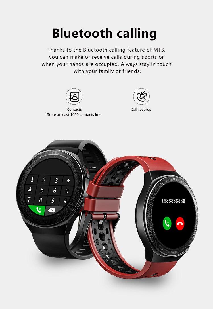 H9c6964999be845e5bab41e2b8496f18fS MT3 Smart Watch Men Women Music Play 8G Memory Bluetooth Call Heart Rate Fitness Health Tracker Sport Waterproof Smartwatch