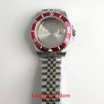 Stainless Steel 40mm Watch Case with Alloy Bezel + Jubilee Watch Strap Fit ETA 2836 MIYOTA 8215 Movement
