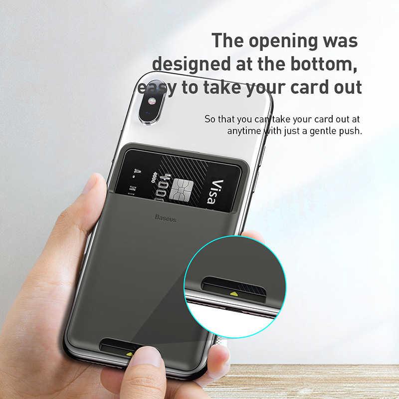 Универсальный чехол-бумажник Baseus с отделениями для карт для телефона iPhone 12 11Pro Max X Sumsung Case 3M, силиконовый чехол-Сумочка для телефона