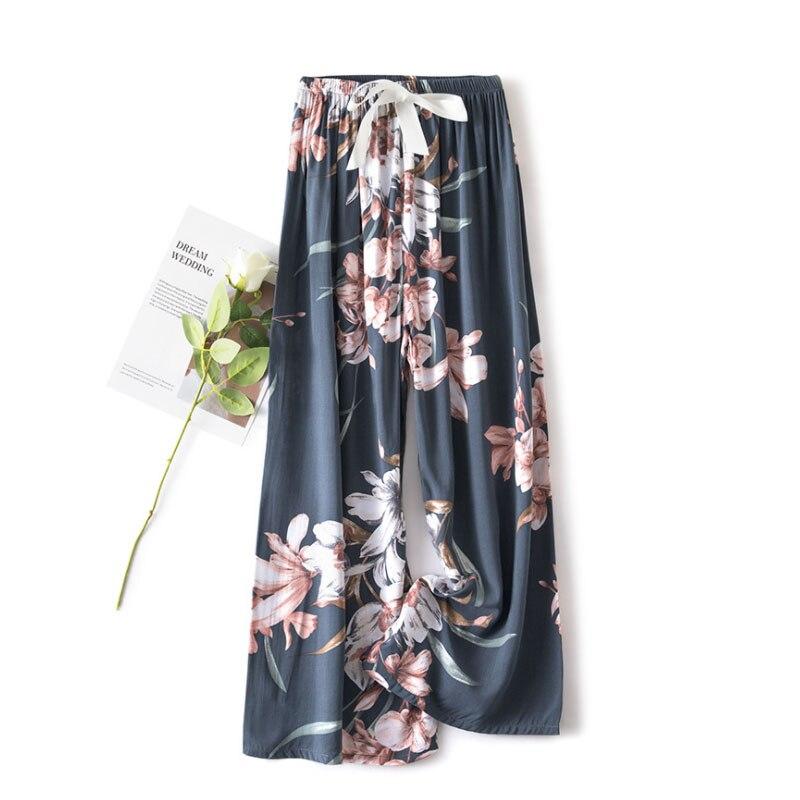 Women's Santa Elk Printed Trousers Spring Summer Fashion Bottom Loose Sleep Mujer Loose Pajama Pant Female Casual Home Pants