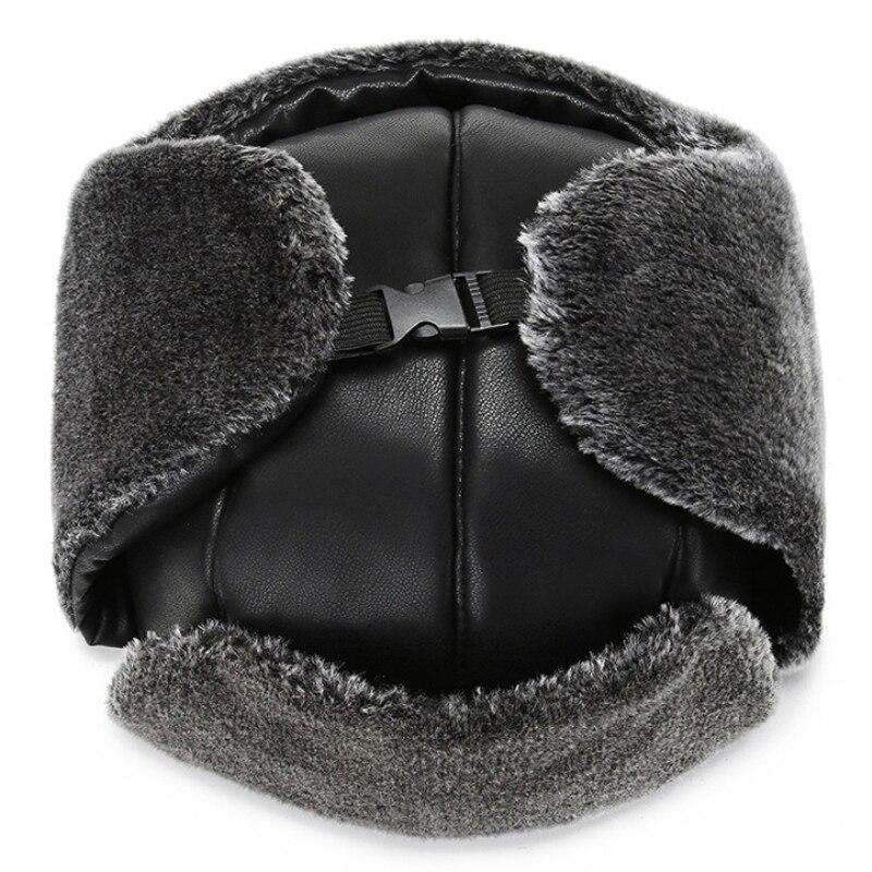 Шапка ушанка ht3322 для мужчин и женщин кожаная Русская снега
