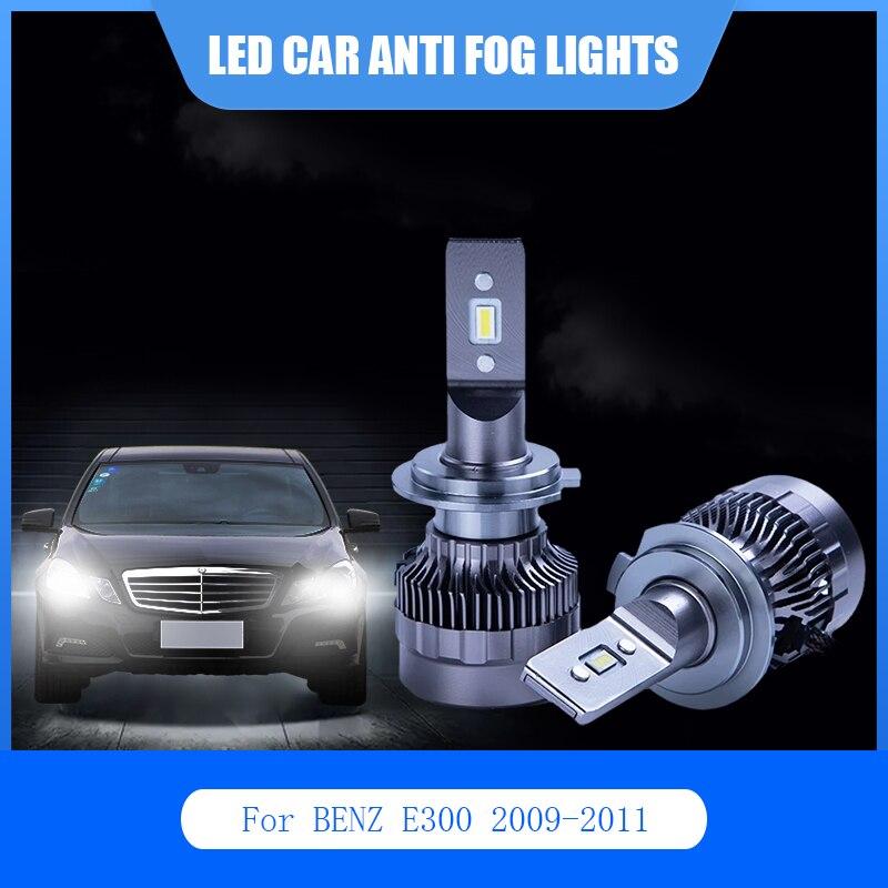 2 шт. для BENZ E300 2009-2011 светодиодный автомобильный светильник Анти-туман лампа H1 H7 D2S 6000K 12V авто светодиодный светильник головной светильник ла...