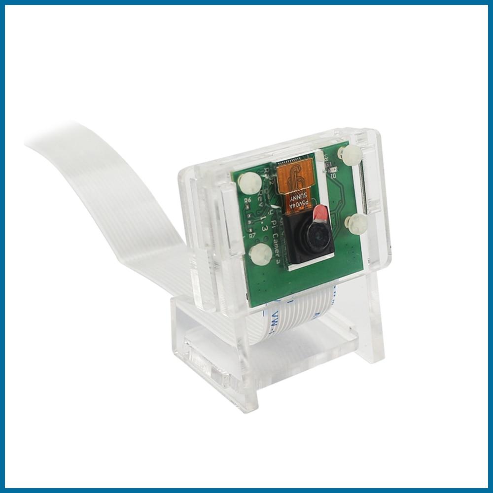 S ROBOT Raspberry Pi 4 5MP Camera Holder Acrylic Support Transparent Bracket Case Box For V2 Official Camera  RPI153