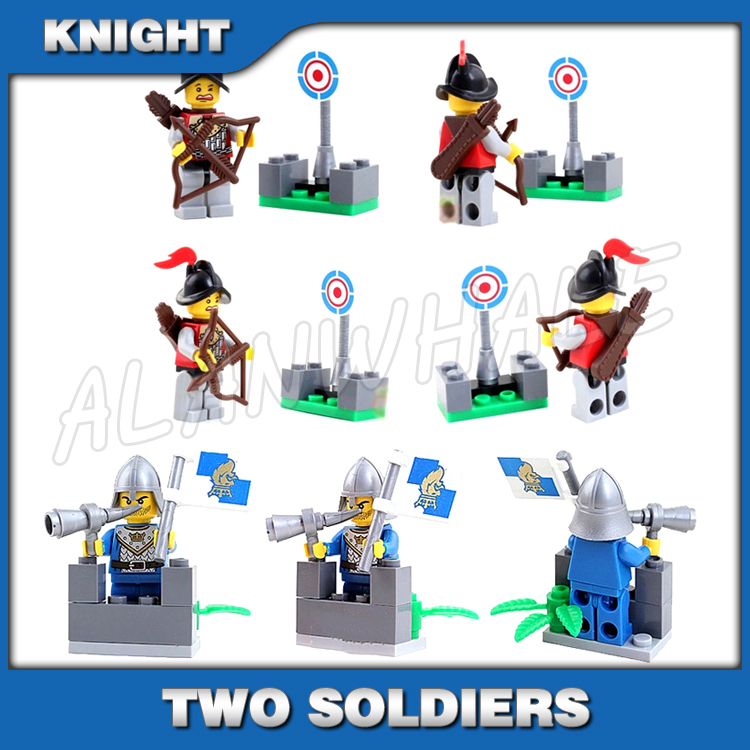 2pcs//set Cartoon Figures Building Blocks Bricks Model Assembled Childrens Toys