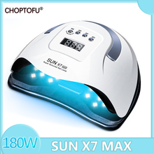 SUN X7 Max Nail Lamp 180W Nail Drying Lamp 57LED UV Lamp Powerful Nail Gel Dryer Lamp Professional Manicure Lamp