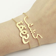 GORGEOUS TALE Rose Gold Custom Arabic Name Bracelet Women Jewelry Christmas Gift Personalized Arabian Writing Pulseira Feminina(China)