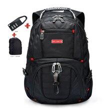 السويسري محمول 15.6 بوصة حقيبة الظهر الخارجية السويسري الكمبيوتر حقائب مكافحة سرقة على ظهره حقائب مقاومة للماء للرجال النساء على ظهره