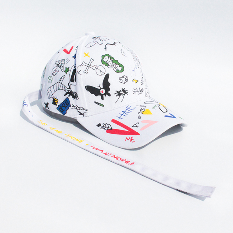 Men Women Baseball Cap Graffiti Kpop Fashion Bigbang GDRAGON Style Snapback Hip Hop Outdoor Sports Spring Summer Caps CP0463