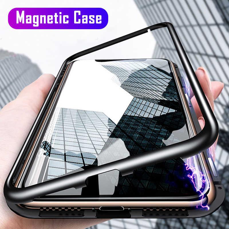 Manyetik adsorpsiyon Metal kasa Samsung Galaxy S20 S10 S8 S9 artı S10 Lite S7 kenar not 8 9 10 a50 A51 A70 A71 A50S A10 kapak