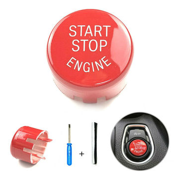 Replace Button Switch Cover Push Cover Parts For BMW F20 F30 F10 F01 F25 Red Start-Stop Engine image