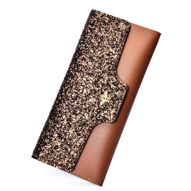 Wallet Glitter Purse Bags and Wallets Unisex color: Black|Blue|Brown|Pink|Red