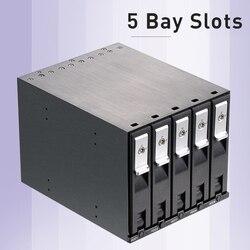 Uneatop الألومنيوم 5-خليج فتحة 3.5in SATA صينية أقل حار مبادلة وحة الكترونية معززة الداخلية الضميمة ل 3.5in SATA HDD رف المحمول