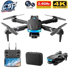 Nowy LS878 Mini Drone 4K HD szeroki kąt podwójny aparat 1080P FPV wysokość utrzymane RC Dron składany Quadcopter zabawka-helikopter #8217 s postawy polityczne w E525 tanie tanio CEVENNESFE CN (pochodzenie) 100m 4K UHD Mode2 4 kanały 7-12y 12 + y 18 + Oryginalne pudełko na baterie Instrukcja obsługi
