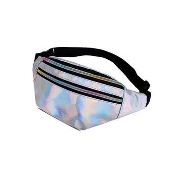Laser Leather Luxury Brand Fanny Pack Unisex Large Capacity Waist Pack Waist Bag for women Belt Multifunction Chest Bag S2150