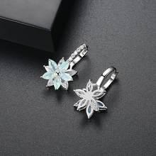 Tiny Trendy Zirkonia Blume Ohr Clip Ohrringe Mode Luxus Hohe Qualität Cz Stein Ohrringe Für Frauen Korean Schmuck 2019