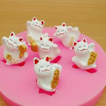 DIY Cute Kawaii Lucky Fortune Cat Different Postures Resin Mold Cat Expoy Resin Mould Jewelry Making Tools Art Crafts