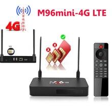 M96 4G lte 2ギガバイトのramアンドロイドスマートtvボックス2G16Gサポート4 3gのsimカードアンドロイド7.1 2.4グラム/5グラムデュアル無線lan H.265 googleテレビリモートメディアボックス
