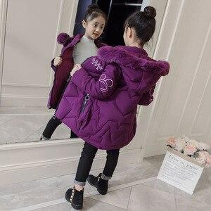 Image 4 - 2019 neue Ankunft Kinder Winter Jacke für Mädchen Kinder Mit Kapuze Warme Mäntel Baumwolle Gepolsterte Parka Mädchen Cartoon Print Unisex Outwear