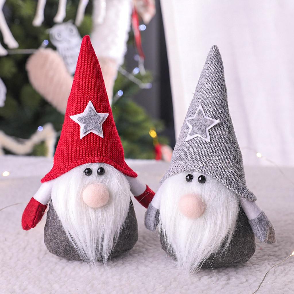 Рождественская елка украшения на новый год 2021 подвеска шведская шерсть Санты милая кукла Гном Рождественская кукла подвеска Рождественско...
