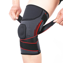1pcs Elastic Spring Silicone Pad Kneepad at Arthritis Patella Knee Brace Support Bracket Pads Strap for Sports Protector