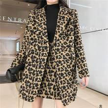 2020 Women coat spring Fashion jacket new arrival elegant slim mini skirt 2 pieces leopard sexy high quality work style TZ01(China)