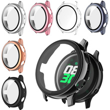 Case+Glass Screen Protector Cover for Samsung Galaxy Watch Active 2 44mm 40mm Full Coverage Bumper Antiscratch Antiwater