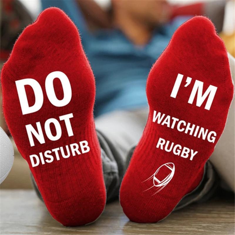 Новинка, мужские и женские спортивные носки-не беспокоить, я слежу за футболом-дышащие мягкие хлопковые носки для бега, баскетбола, велоспорта