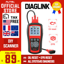 Autel Maxidiag Elite MD802 Diaglink OBD2 Scanner Alle Systeem Auto Diagnostic Tool Obd 2 Code Reader Epb Olie Reset Pk MD805 CRP129(China)