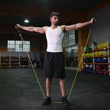 120cm elástico resistência bandas yoga puxar corda fitness pilates workout esporte elástico de borracha puxar corda expansor banda elastica