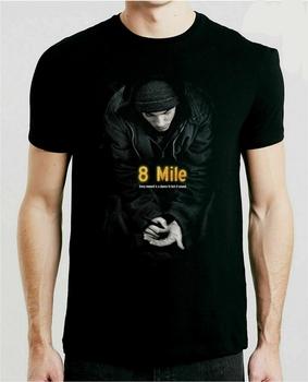8 Mile film T-Shirt S-3Xl Eminem czarny film Retro kult najlepszy Streetwear Tee koszula tanie i dobre opinie Daily SHORT CN (pochodzenie) COTTON Cztery pory roku Na co dzień Z okrągłym kołnierzykiem Short sleeve white t-shirt tshirts Black White tee shirt t shirt tops