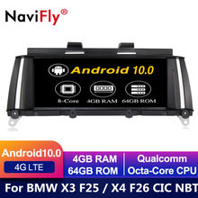IPS 8 Core Android 10 AUTO DVD FÜR BMW X3 F25 für BMW X4 F26 auto player audio stereo Multimedia GPS Navigation stereo monitor f25