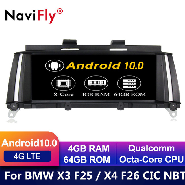 IPS 8 Core Android 10 samochodowy odtwarzacz DVD dla BMW X3 F25 dla BMW X4 F26 odtwarzacz samochodowy audio stereo GPS nawigacja stereo monitor f25