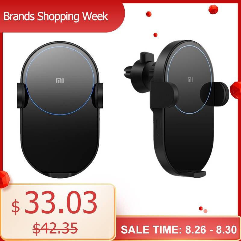 Chargeur sans fil de voiture Xiao mi WCJ02ZM 20W Max Qi avec capteur infrarouge Intelligent charge rapide support pour téléphone de voiture pour mi 9