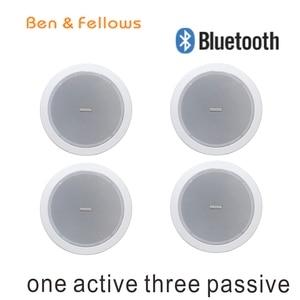 Altavoz 315101 con Bluetooth para cine en casa, altavoces de techo, Subwoofer de Audio 4 Uds. De 5 pulgadas, 15W, 8 ohm, para sistema de dirección pública de PA