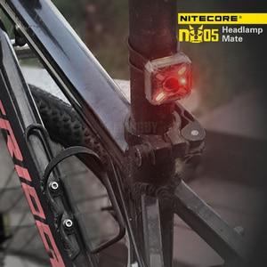 Image 4 - 2020 nitecore卸売NU05キット35 lms白赤ライト高性能4LEDビルドのバッテリーusb充電式屋外ヘッドランプ