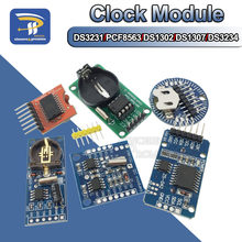 Ds3234/ds1302/ds1307/pcf8563/ds3231 at24c32 i2c iic memória 3.3 v-5 v tempo real precisão rtc relógio i2c módulo ds3231sn para arduino