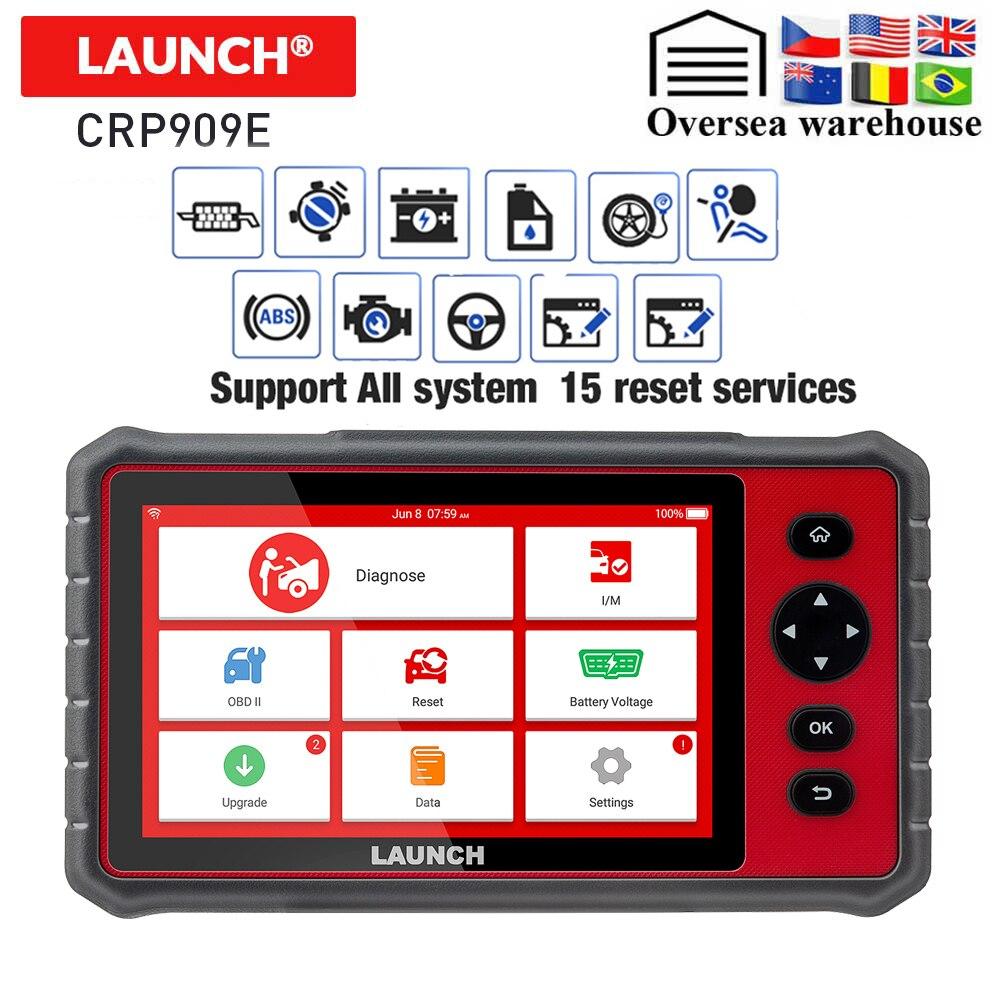 LAUNCH X431 CRP909E OBD2 Car Diagnostic Scanner Professional OBD2 Scanner Airbag SAS TPMS EPB IMMO Reset Auto Code Reader CRP909