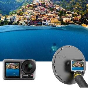 Image 3 - TELESIN Aksesuarları 3 Model su geçirmez muhafaza için Dome Portu Gopro Oturumu Gopro Hero Için 7 6 5 için DJI kamera yatağı