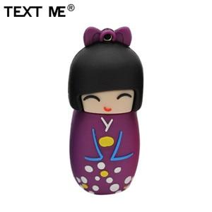 Image 4 - TEXTO ME 64GB dollusb vermelho rosa preto azul roxo cor mini Japonês dos desenhos animados flash drive usb2.0 4GB GB GB 32 16 8GB pendrive