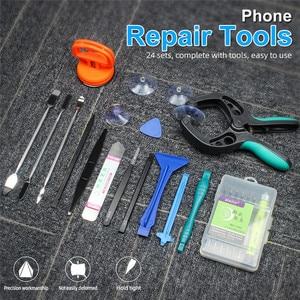 Image 2 - 24 In 1 Professional Cell Phone Repair Tools Kit For Samsung S7 S6 Repair Screwdriver Set Opening Disassembly Repair Tools Kit