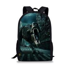 Thikin Dinosaur Tyrannosaurus Students School Bag for Boys Teenagers Backpack Travel Package Shopping Shoulder Women Mochila