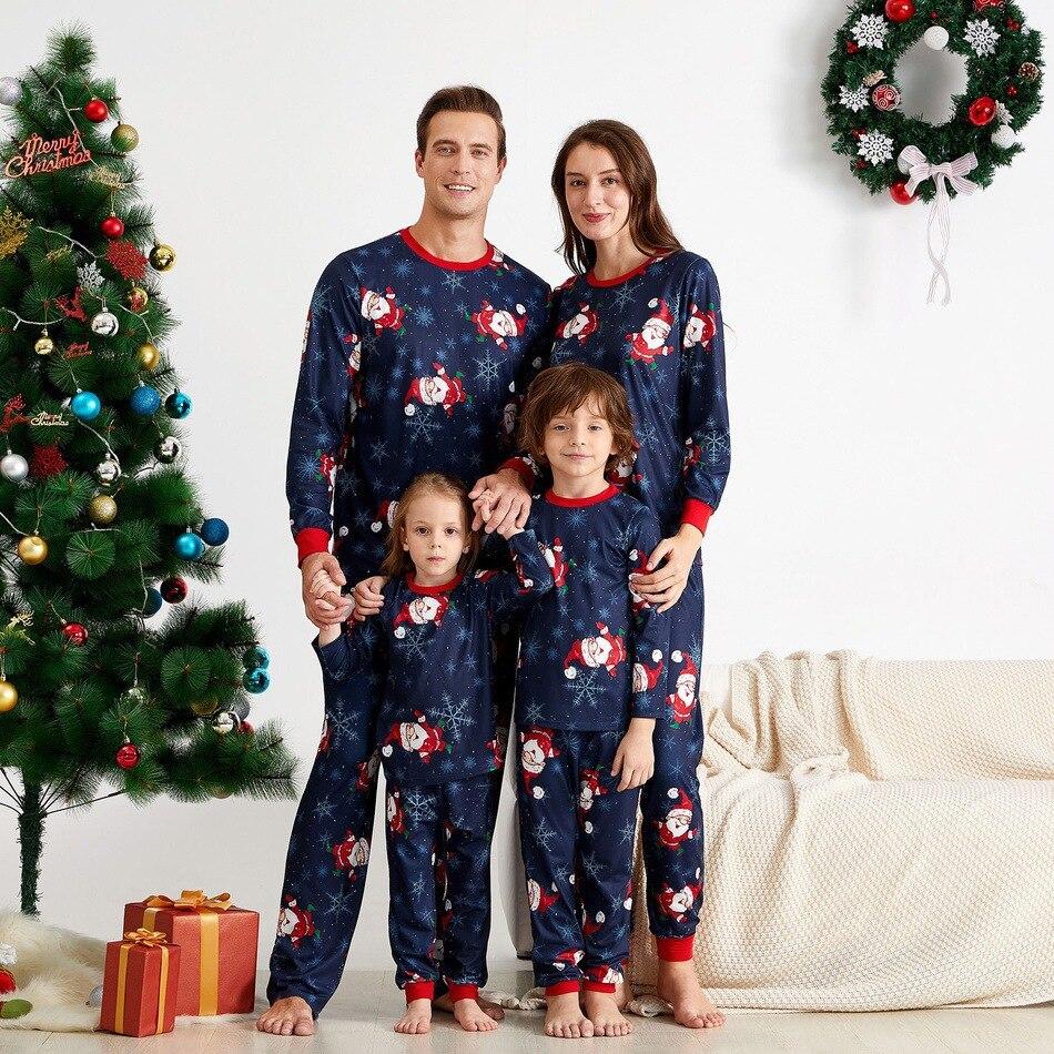 Famille chaude vêtements de noël père Mather enfants enfant Parent-enfant ensemble maison imprimé pyjamas ensembles vêtements de nuit sous-vêtements vêtements