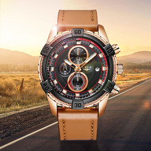 LIGE Mens Watches Top Brand Luxury Fashion Sport Waterproof Watch Men Casual Leather Army Military Chronograph Gift for Man+Box цена