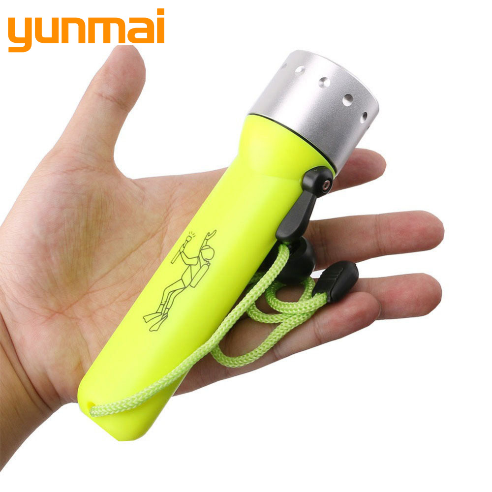 Light For Diving 2000LM Q5 LED Waterproof Scuba Diver Diving Flashlight Underwater Flash Light Torch
