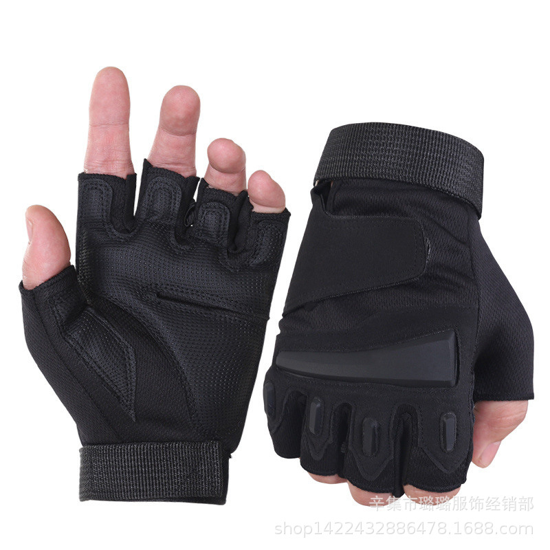 Military Tactical Gloves Half Finger Mens Mechanic Gloves Navy Seals Delta Force SWAT Gloves Airsoft Cycling Combat Gloves