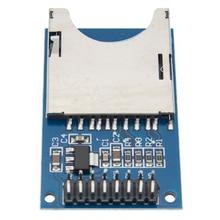 Модуль считывания и записи 100 шт./лот для модуля SD карты, слот для считывания разъемов ARM MCU, бесплатная доставка