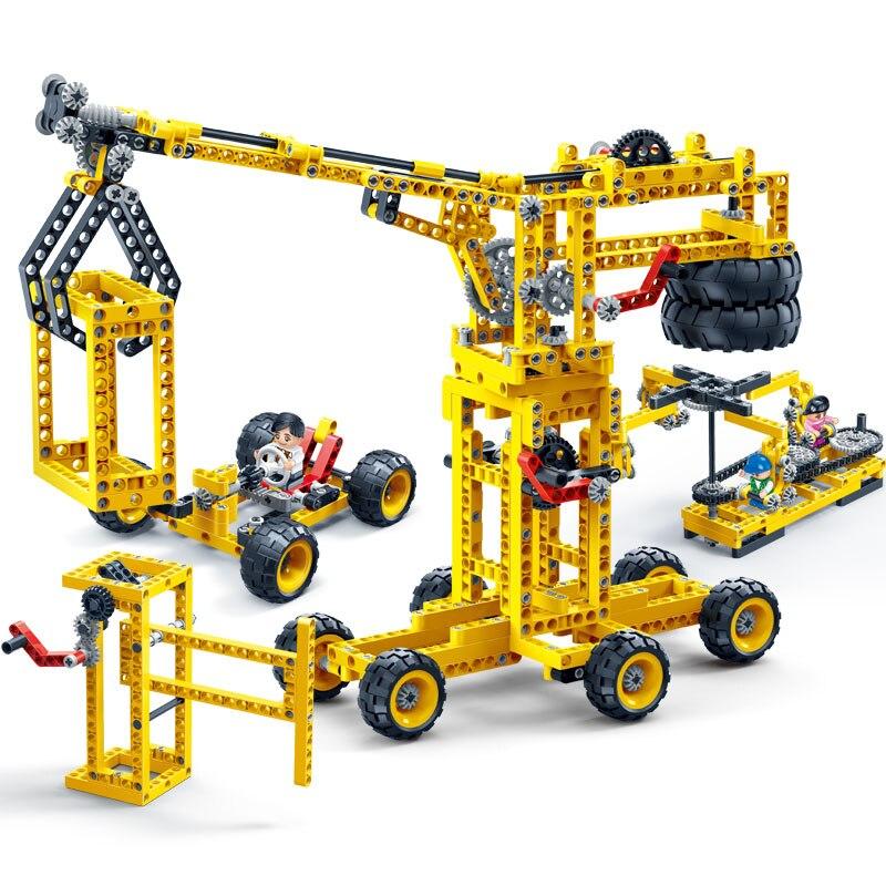 BanBao 6902 8 In 1 Construction Machine Power Energy Machine Technic Bricks